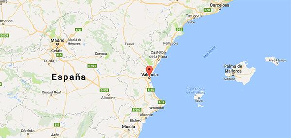 Contacta con nosotros mapa