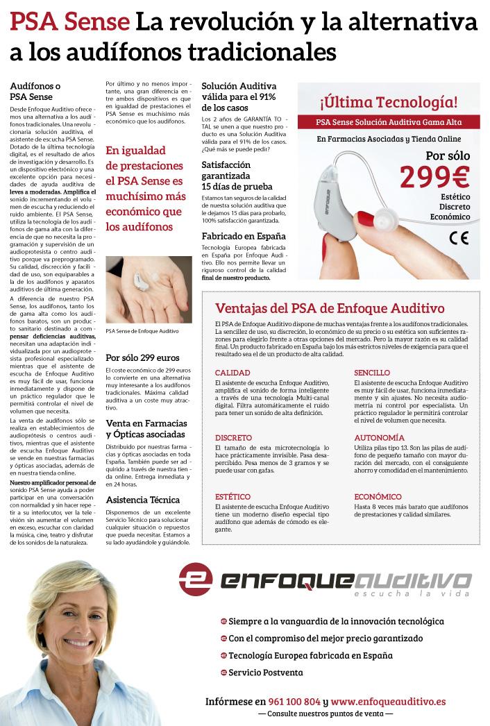 El diario El País publica un artículo sobre el PSA Sense de Enfoque Auditivo. elpais